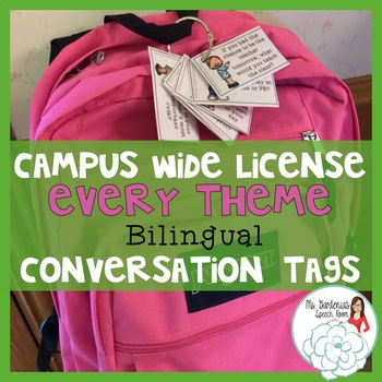 Bilingual Conversation Backpack Tags: Campus Wide License