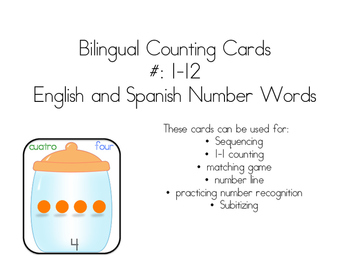 Bilingual Counting Cards