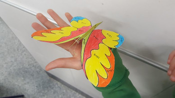Bilingual Craftivity - Spanish Butterfly - Common Core Aligned