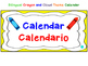 Bilingual Crayon and Cloud Theme Calendar