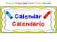 Bilingual Crayon and Cloud Theme Calendar
