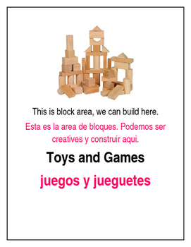 Bilingual Creative Curriculum Area Signs Preschool