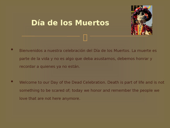 Bilingual Day of the Dead Presentation