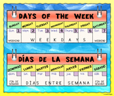 Bilingual Days of the Week Calendar Poster (Spanish and English)