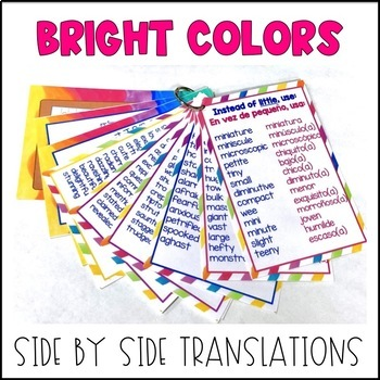 Bilingual Descriptive Words (Synonyms for Adjectives)