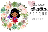 Bilingual Dia de Las Madres/ Mother's Day Powerpoint EDITABLE