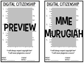 Bilingual Digital Citizenship Contract (FR/EN)