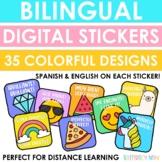 Bilingual Digital Stickers - Distance Learning