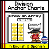 Bilingual Division Anchor Chart Posters Bulletin Board Set