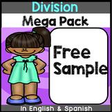 Bilingual Division Mega Pack Freebie in English & Spanish