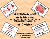 Bilingual Division Representations - Posters and Worksheets