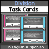 Bilingual Division Task Cards in English & Spanish
