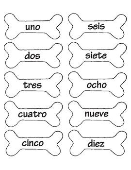 Bilingual Dog Bone Math Activities