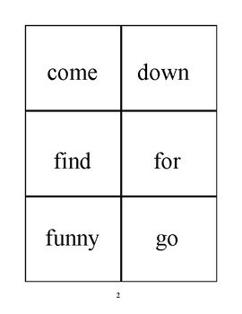 Bilingual Dolch Sight Words, Russian and English flash cards
