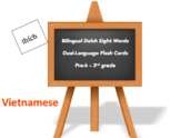 Bilingual Sight Words, Vietnamese and English flash cards