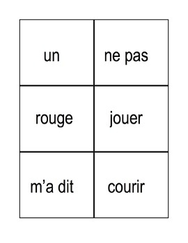 Bilingual Dolch Site Words, French and English flash cards