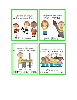 Bilingual Door Signs. Tell them where your class is when y