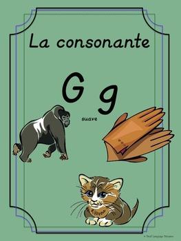 Bilingual Dual Language D'Nealian Silabas con G suave-- ga go gu