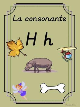 Bilingual Dual Language D'Nealian Silabas con Hh-- ha he hi ho hu