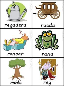 Bilingual Dual Language D'Nealian Silabas con Rr-- ra re ri ro ru