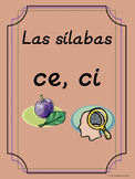 Bilingual Dual Language D'Nealian Silabas con ce, ci