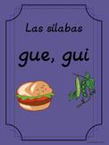 Bilingual Dual Language D'Nealian Silabas con gue, gui