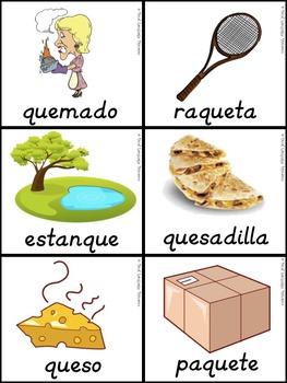 Bilingual Dual Language D'Nealian Silabas con que, qui