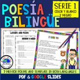Bilingual Poetry Writing Activities Mini Unit Poems  Distance Learning