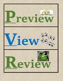 Bilingual & Dual Language - Preview, View, Review *PVR* Clip Chart [Green/Blue]