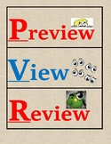 Bilingual & Dual Language - Preview, View, Review *PVR* Clip Chart [Red/Blue]