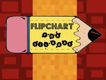 Bilingual Dual Language Silabas Flip Charts for A, E, I, O, U