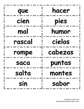 """Bilingual / Dual Language / Spanish Compound Words """"palabras compuestas"""""""