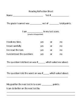 Bilingual ELA/Reading Reflection Sheet - editable