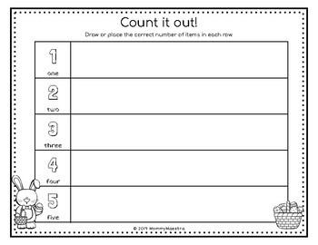 Bilingual Easter Counting Mats
