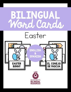 Bilingual Easter Word Cards