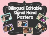 Spanish/English -  Editable Hand Signal Posters