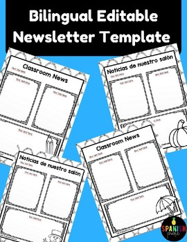 Bilingual Editable Newsletter Template (Spanish)
