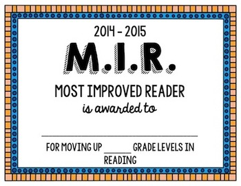 Bilingual End of Year Reading Awards