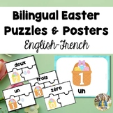 FREE Bilingual (English-French) Spring/Easter Number Puzzl