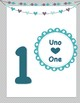 Bilingual English Spanish Number Posters 1-10