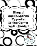 Bilingual English/Spanish Opposites Sorting Games