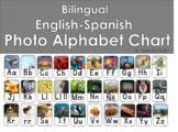Bilingual English-Spanish Photo Alphabet Chart