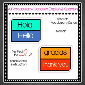 Bilingual Vocabulary Cards - Common English and Spanish Phrases