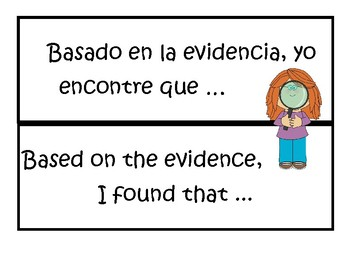 Bilingual (English/Spanish) Sentence Starters