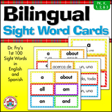 Bilingual (English/Spanish) Sight Word Word Wall Cards
