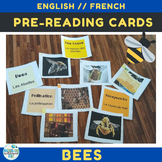 Bilingual (English and French) Bee Pre-reading Cards