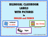 Bilingual (English and French) Classroom Labels