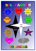Bilingual English and German colours Poster .A3 .