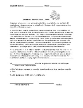 Bilingual English and Spanish Book Contract