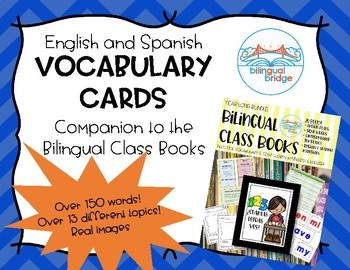 Bilingual (English and Spanish) Vocabulary Word Cards